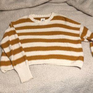 Billabong cream and mustard striped sweater